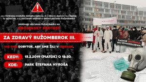 obciansky protest - Za zdravý Ružomberok- 15-2-2019